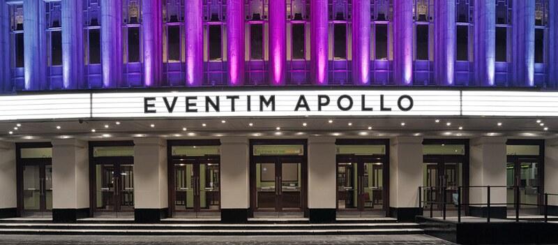 The exterior of the Event Apollo venue in Hammersmith.