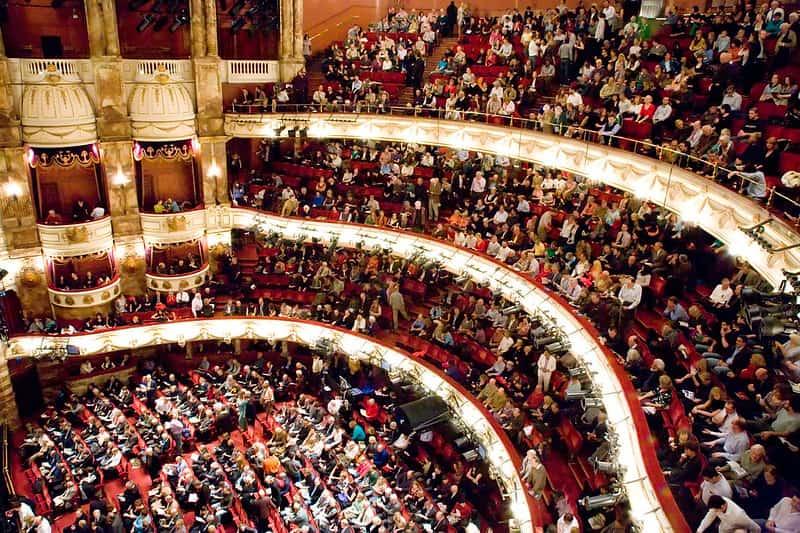 Auditorium at the London Coliseum theatre.