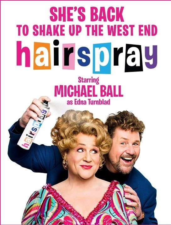 Poster for Hairspray the musical.
