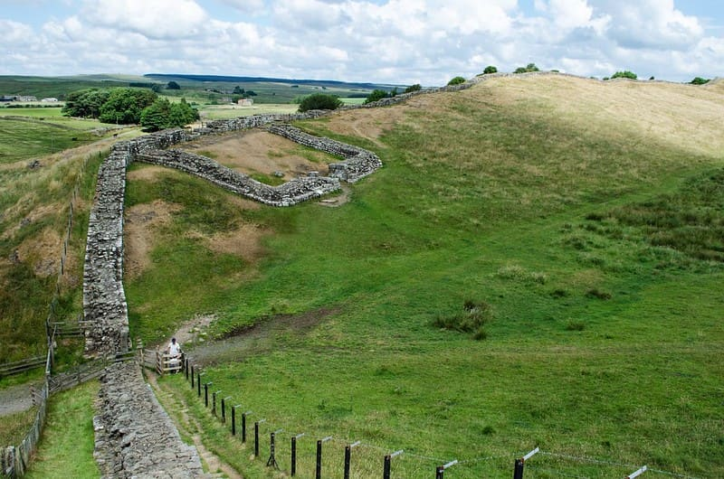 Remains of Hadrian's Wall in Northern England.