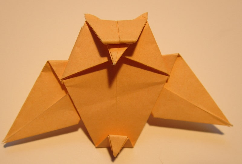 Orange Harry Potter origami Hedwig.