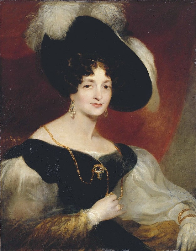Portrait of Princess Victoria Maria Louisa, Queen Victoria's mother.