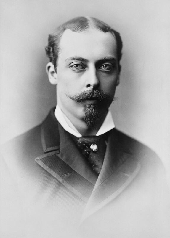 Black and white portrait of Queen Victoria's son, Prince Leopold.