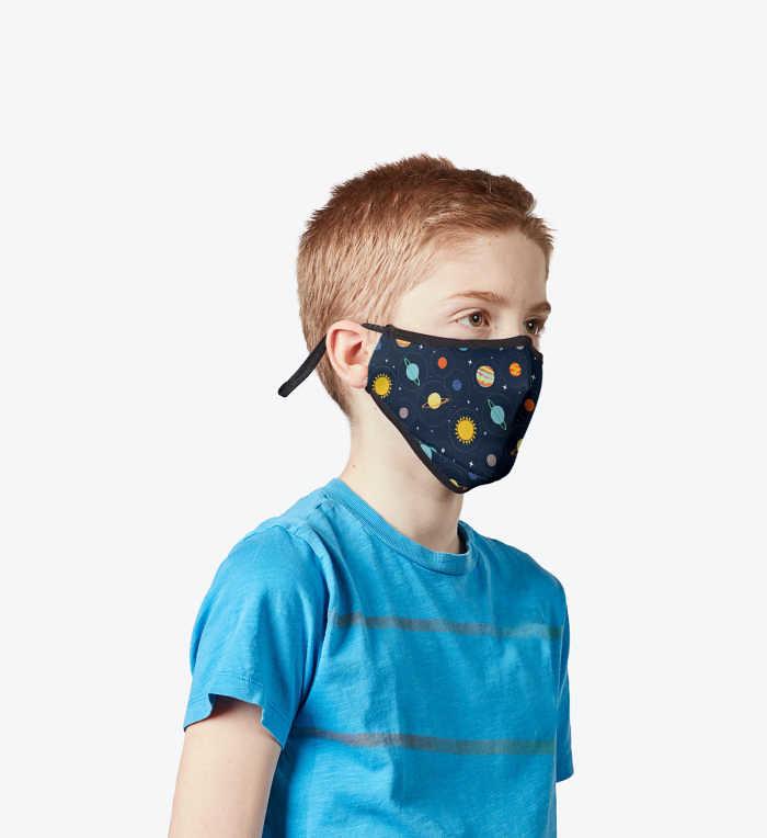 Boy wearing Vistaprint Kids Face Mask.