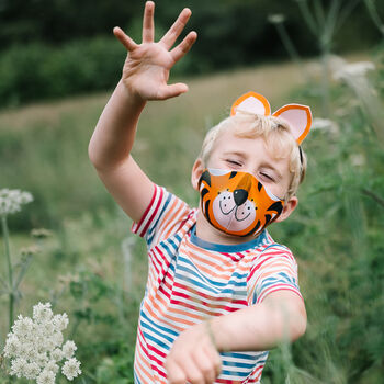Wild Things Kids Cotton Animal Faces Face Mask.