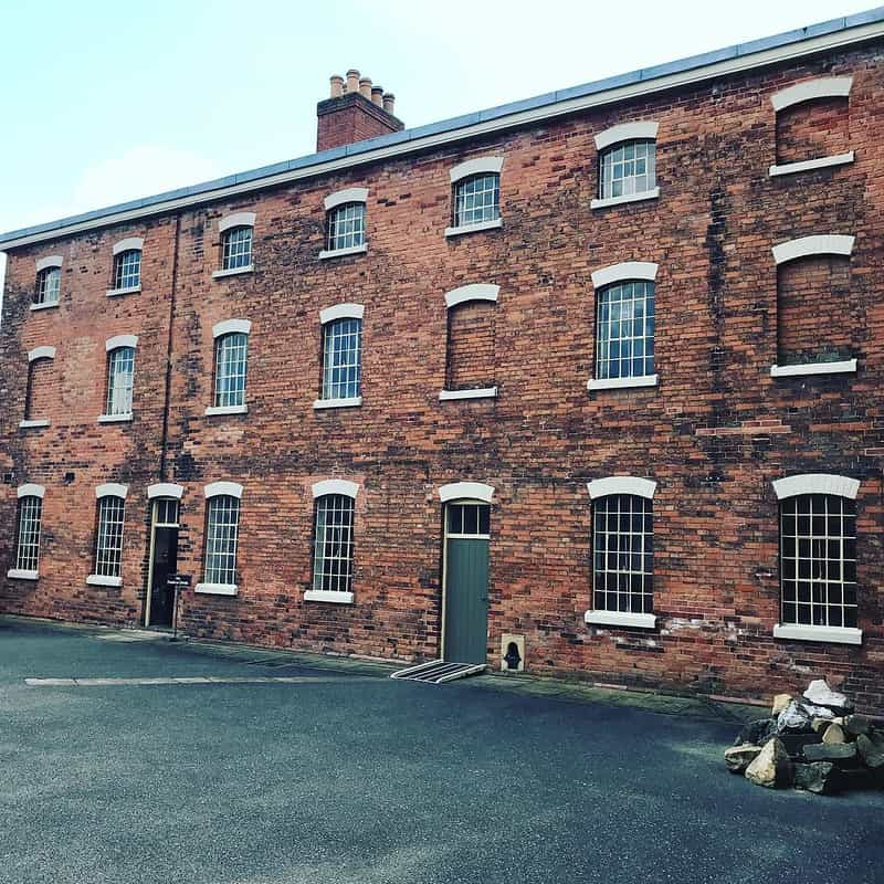 Outside the Victorian workhouse in Nottinghamshire.