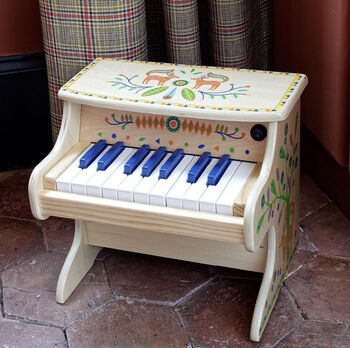 Wooden Toy Electric Piano.