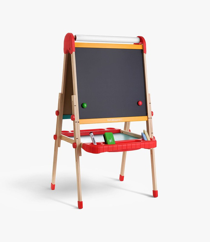 Top Bright Childrens Painting Easel and Blackboard.