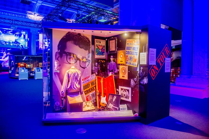 Museum displays at the British Music Experience.