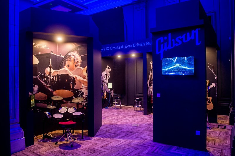 Gibson studio at the British Music Experience.
