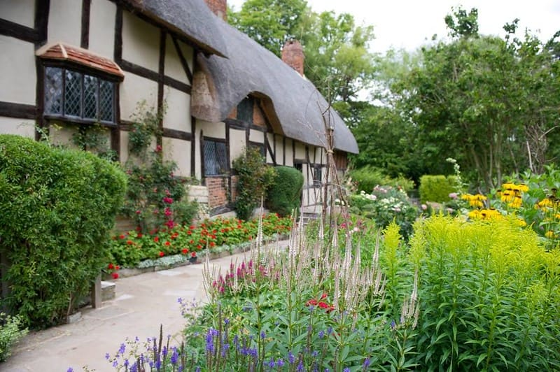 Anne Hathaway's Cottage in Stratford-upon-Avon.
