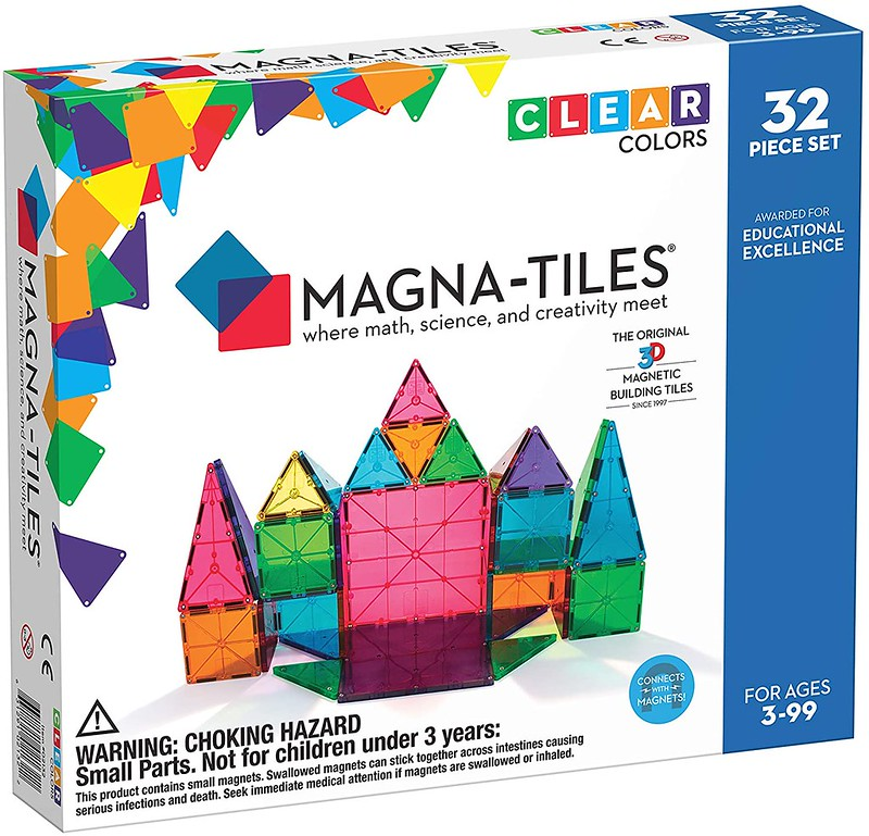 Magna Tiles Kids Colour 32 Piece Set.