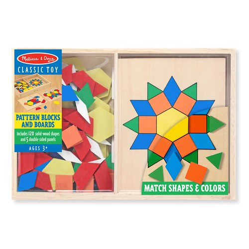 Melissa And Doug Pattern Blocks And Boards.
