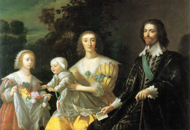 Painting of an upper class family of Tudor courtiers.