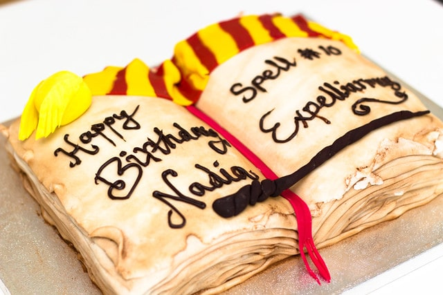 Harry Potter themed book cake.