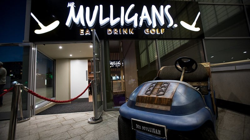 Entrance to Mr Mulligan's Bournemouth.