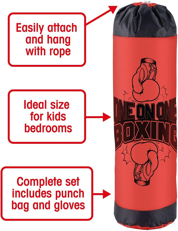 Toyrific Small Punching Bag For Kids With Gloves