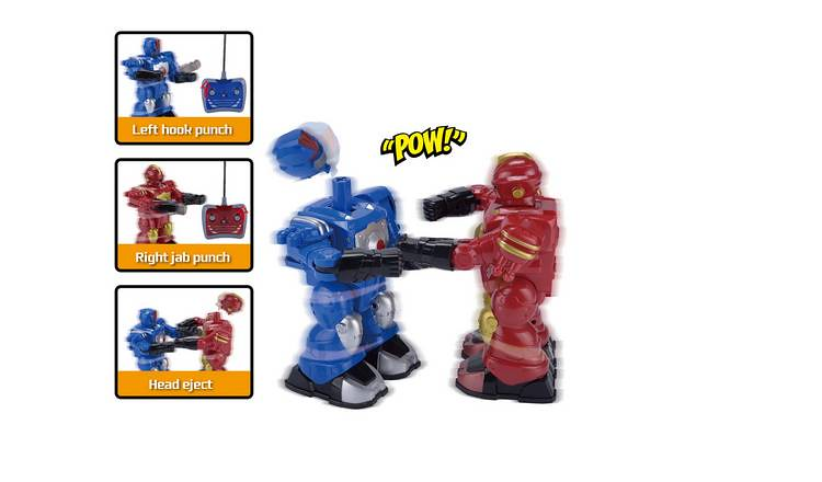 Chad Valley Radio Controlled Boxing Robots.