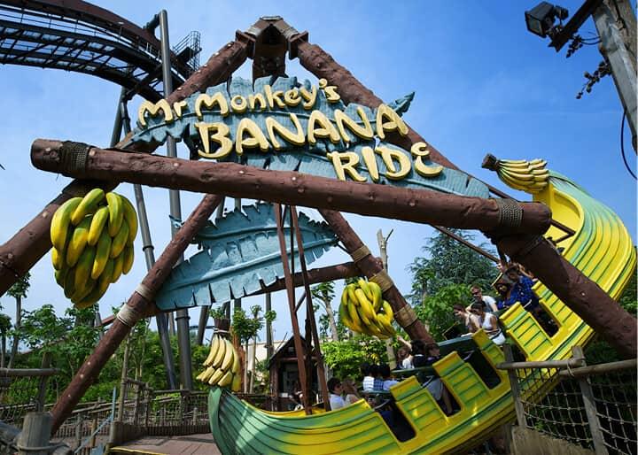Entrance to Mr. Monkey's Banana Ride.