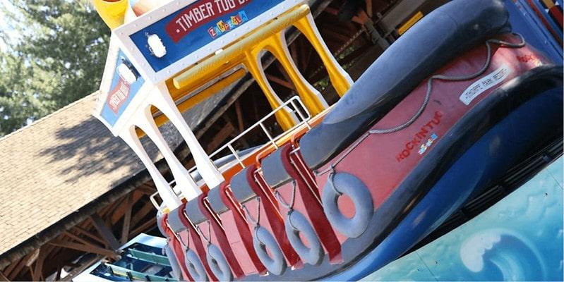 Timber Tug Boat ride at Thorpe Park.