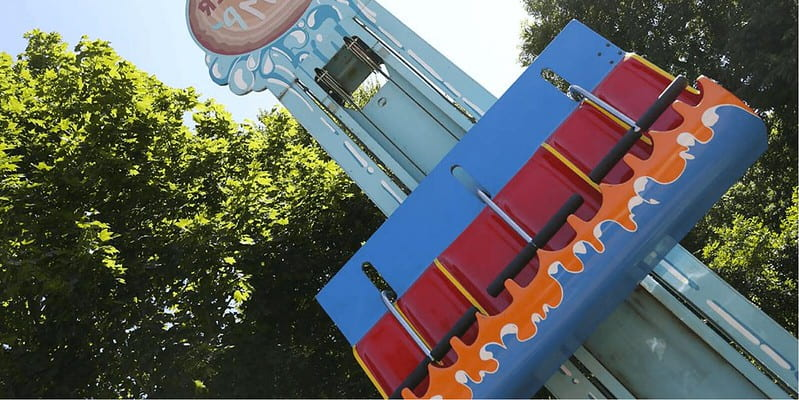 Lumber Jump ride at Thorpe Park.