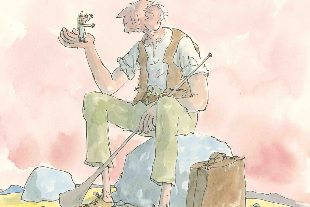 Illustration from The B.F.G. by Roald Dahl.
