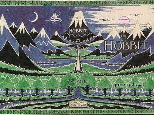 The front and back over of 'The Hobbit' by JRR Tolkien.