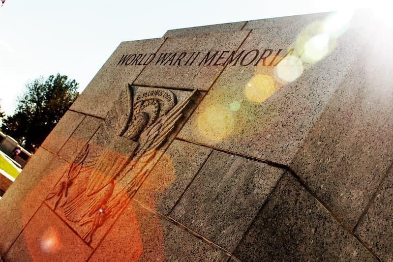 A World War 2 memorial stone.