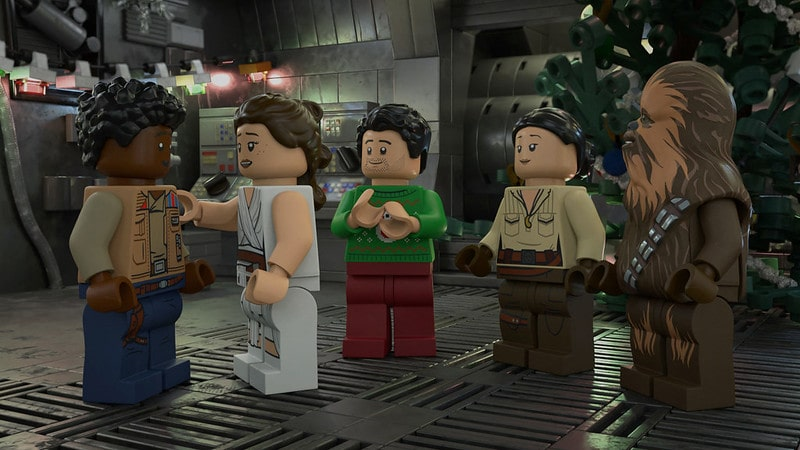 Still from the Lego Star Wars holiday special.