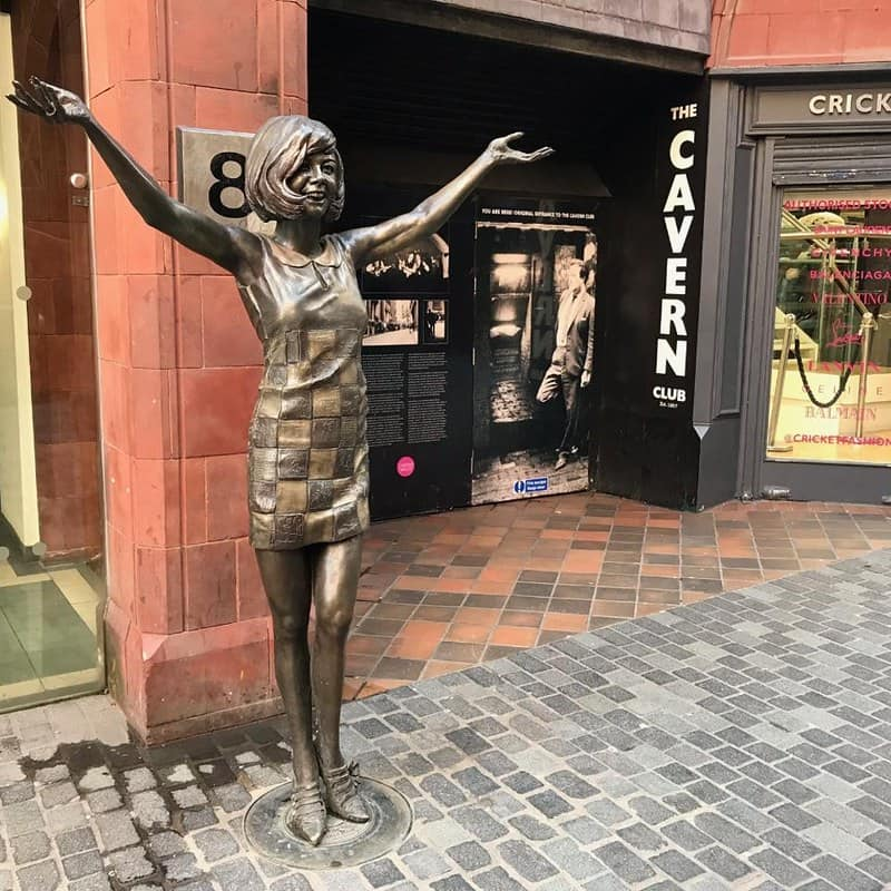 A statue of Cilla Black outside of the Cavern Club in Liverpool.