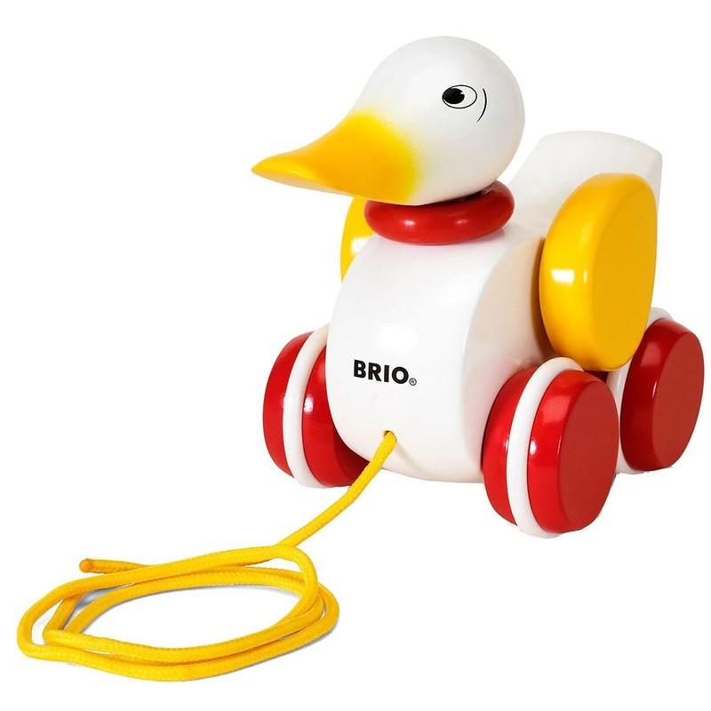 BRIO Pull-Along White Duck.