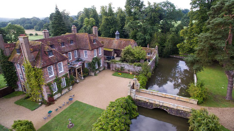 Aerial view of Groombridge Place house.