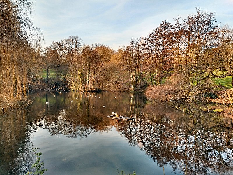 Waterlow Park and lake in Highgate.