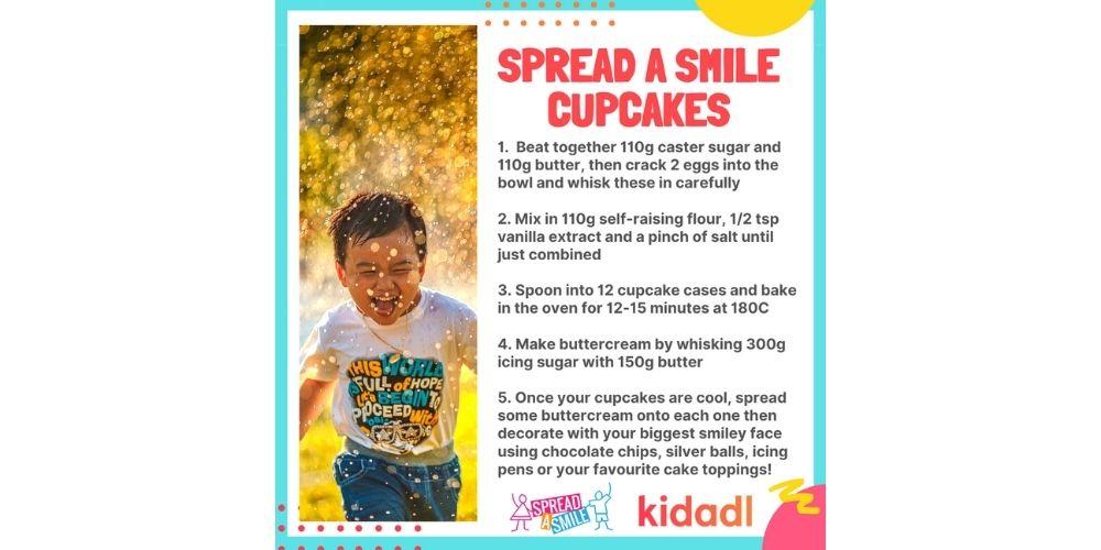 spread a smile cupcakes.