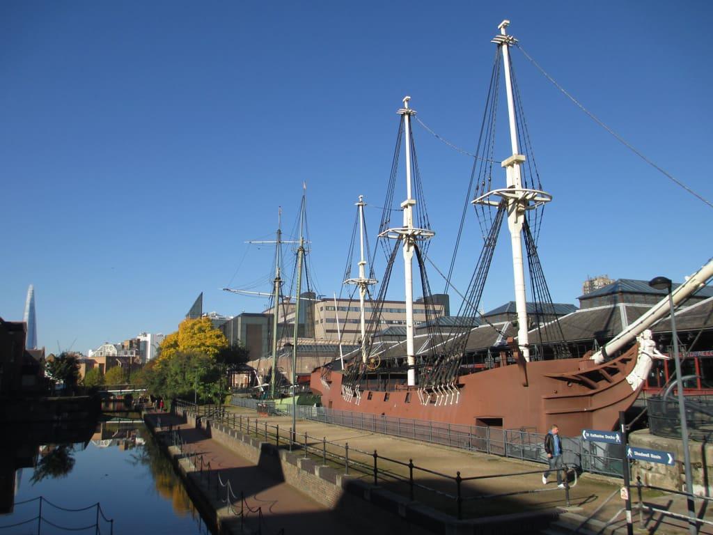Ships at Tobacco Dock.