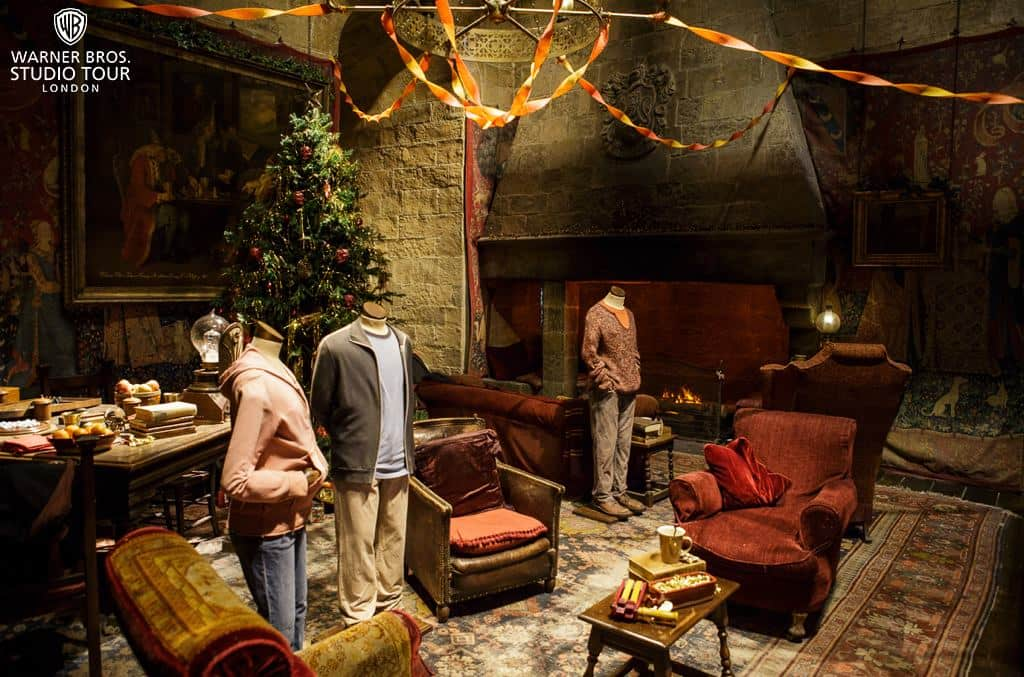 The Gryffindor common room at the Warner Bros studio tour, Watford, London.