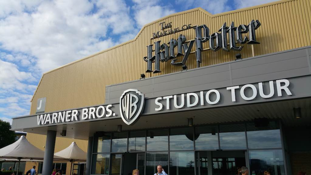 The Making of Harry Potter Warner Bros studio tour building.