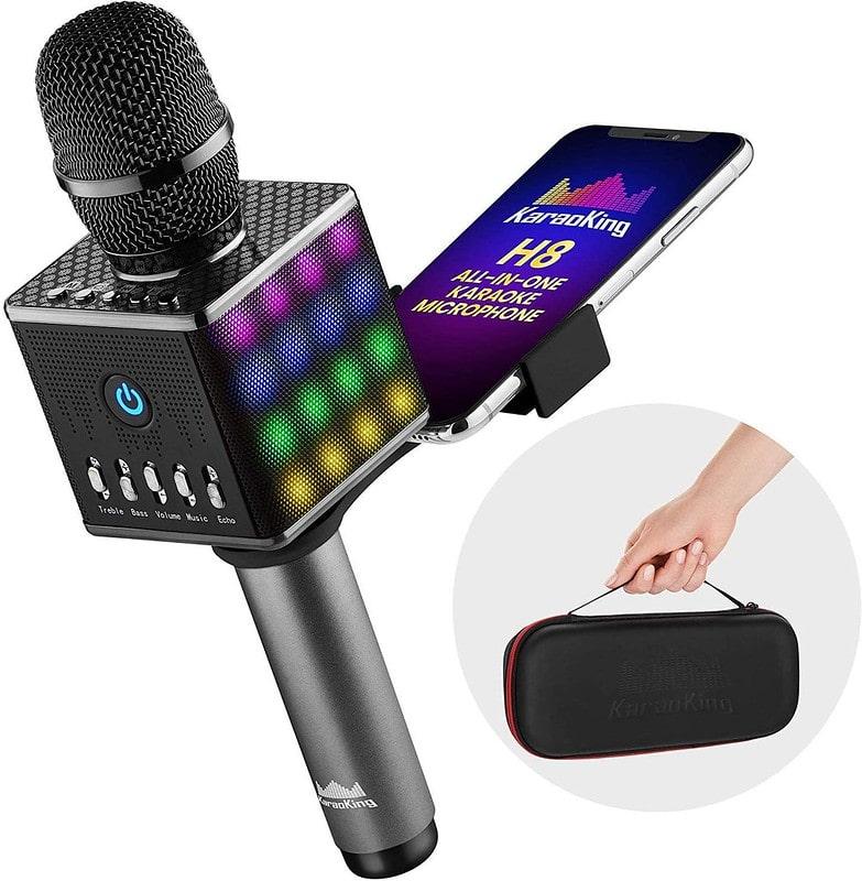 RC Toys Portable Wireless Bluetooth Karaoke Microphone.