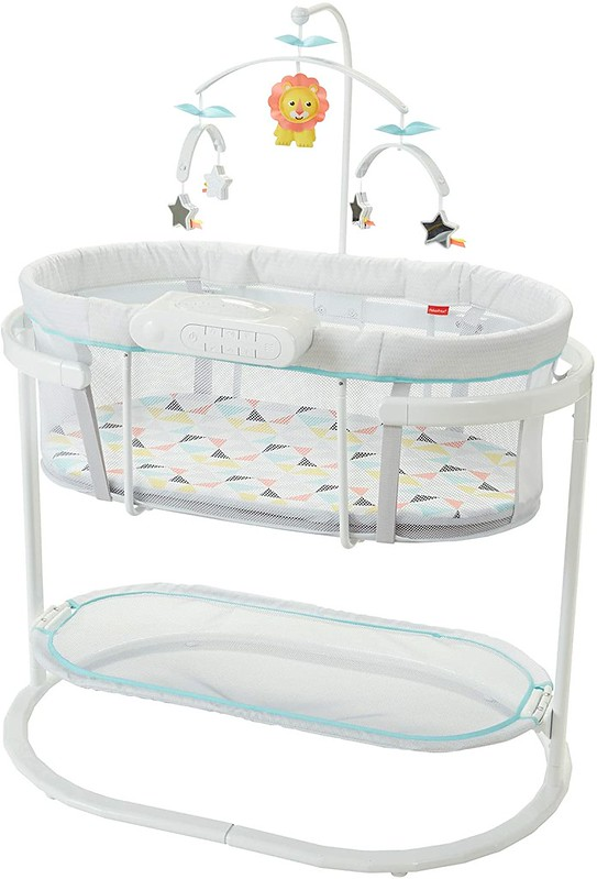 Fisher Price Soothing Motions Bassinet Bedside Sleeper.
