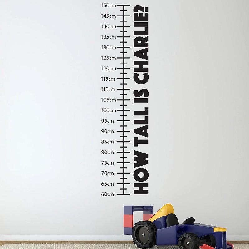 Mirrorin Personalised Height Chart Wall Sticker.