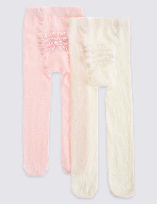 Marks & Spencer Frilly Bum Baby Tights.