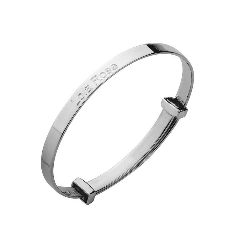 Hersey Child's Silver Expanding Bangle.