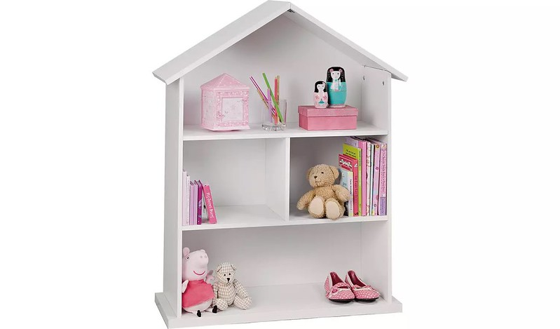 Argos Home Mia White Dolls House Bookcase.