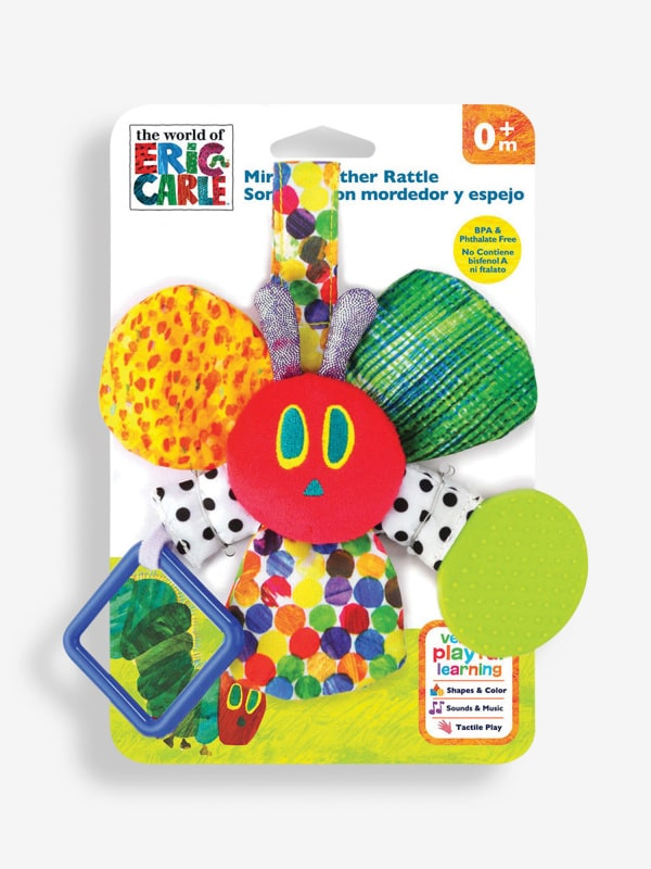 The Very Hungry Caterpillar Mirror Teether Rattle.