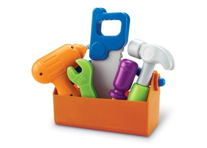 Learning Resources New Sprouts Toddler Tool Box, 6 Pieces.