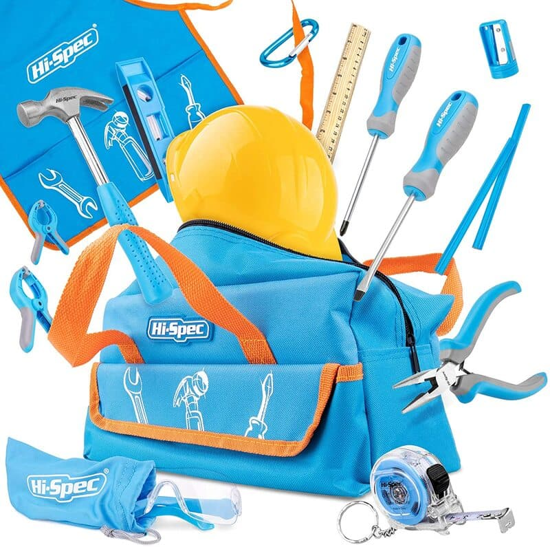 Hi-Spec 15 Piece Children's Tool Kit with Real Small Sized Hand Tools.