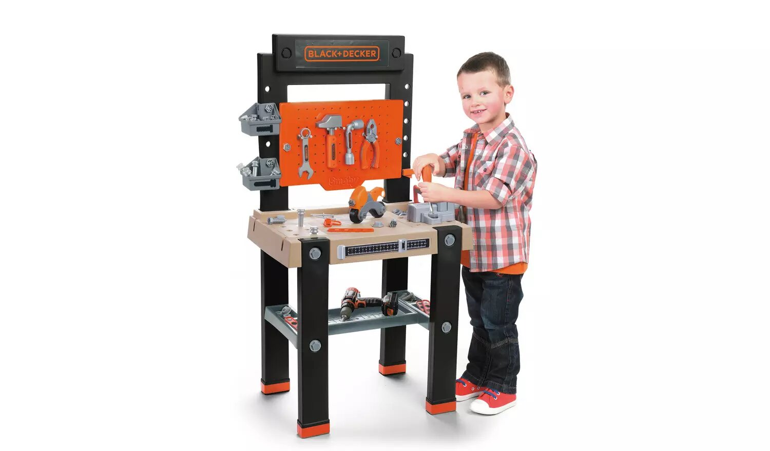Smoby Giant Black And Decker Toy Workbench.
