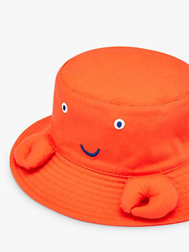 Joules Hatattack orange character hat.