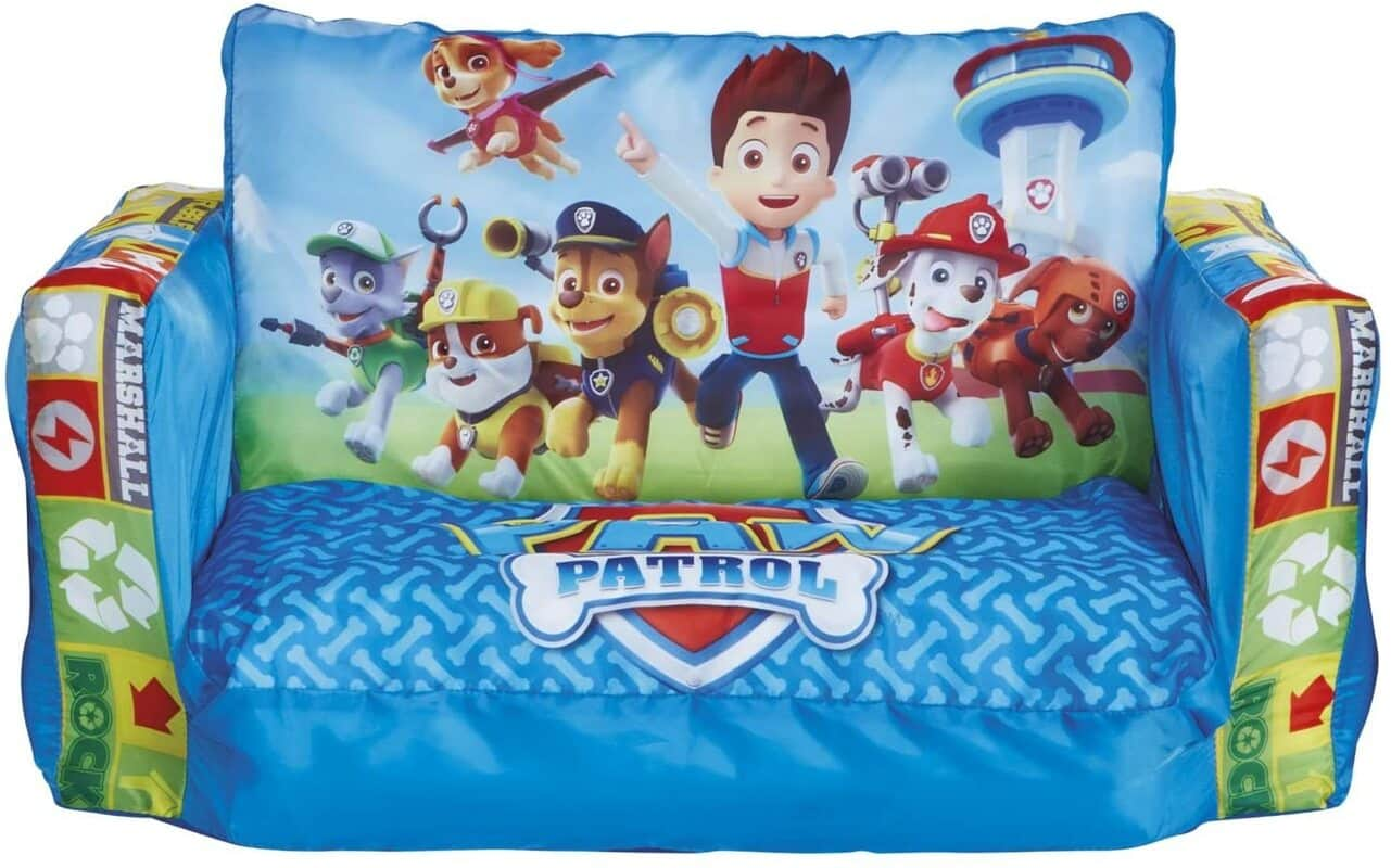 Paw Patrol 2 In 1 Inflatable Flip Out Mini Sofa And Lounger.