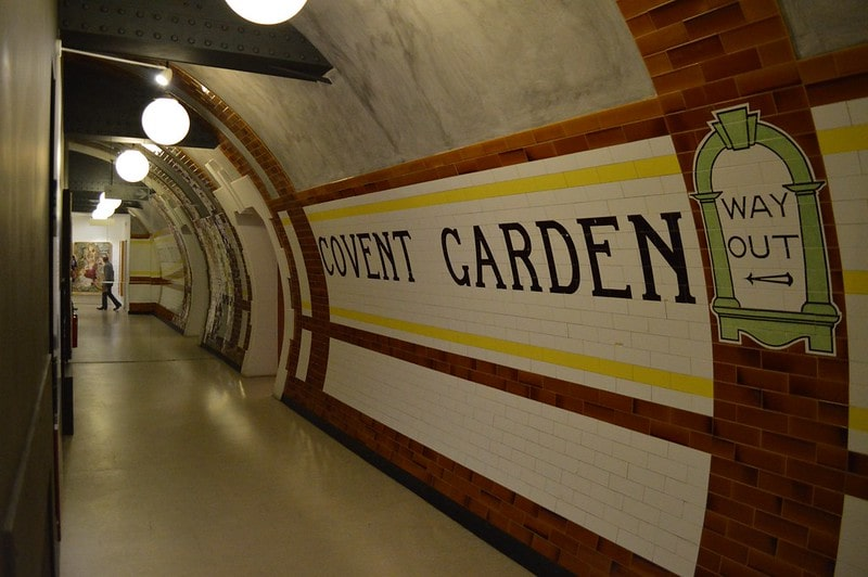 Fake Covent Garden tube station.